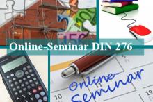 Online-Seminar: Baukostenplanung im Hoch- und Ingenieur-bau - DIN 276