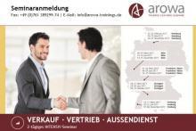 Top Verkaufs- & Vertriebsseminare von arowa