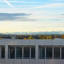 Ausblick von der Dachterrasse des MANAGER INSTITUT München