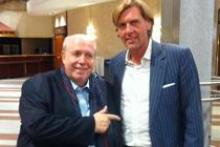Carsten K. Rath mit seinem Freund Reiner Calmund