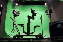 Greenscreen Studio mit Dollysystem