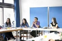Deutschkurs im Deutschkolleg Stuttgart - Gruppengespräch
