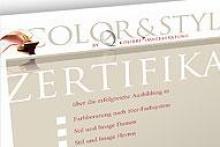 Zertifikat unserer Ausbildung zur Farb- und Stilberaterin